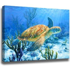 Other - Decor Sea Turtle Pictures Painting Wall Art Beach